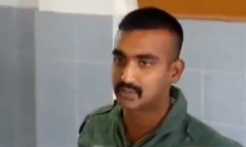 Old picture of Wing Commander Abhinandan. ─ Source: YouTube