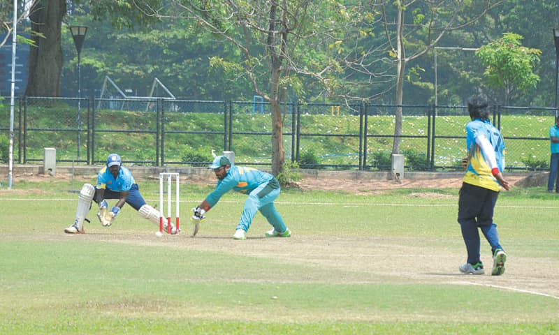COLOMBO: A view of the first blind Twenty20 between Sri Lanka and Pakistan on Wednesday.