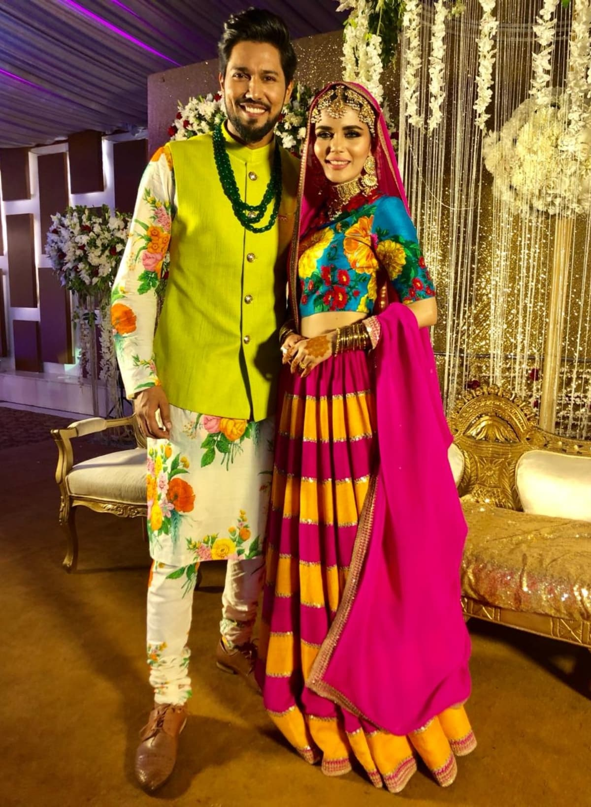 The bride Faiza Ashfaq opted for the same Sabyasachi outfit worn by Anushka Sharma at her mehendi ceremony