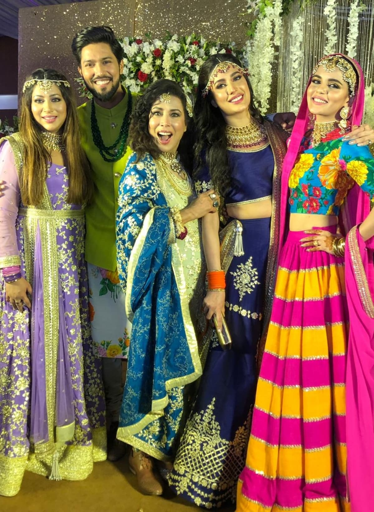 The Hayat family poses for a picture