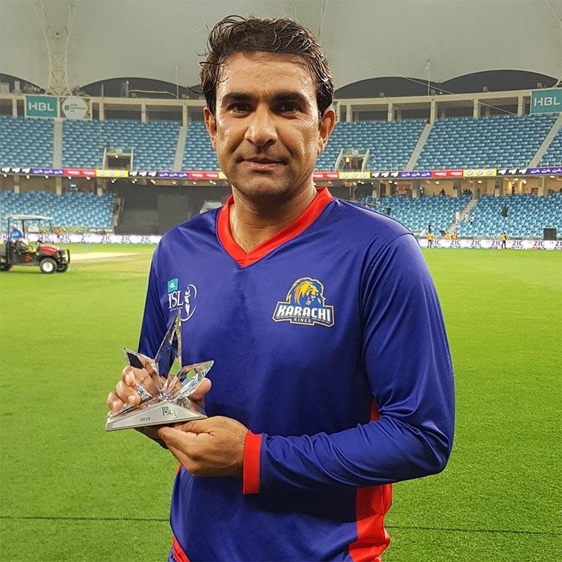 میچ میں بہترین کھلاڑی قرار پانے والے افتخار احمد—تصویر پاکستان سپر لیگ ٹوئٹر