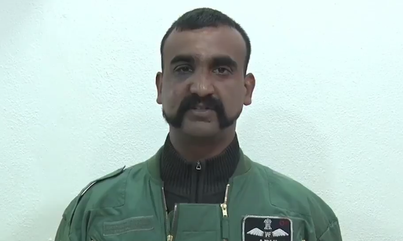 Shortly before his release, a new video statement of Wg Cdr Abhinandan was broadcast on Pakistani media. — DawnNewsTV
