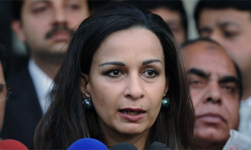 """Has India agreed to hold talks?"" asks Senator Sherry Rehman. — AP/File"