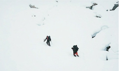 Mountaineers went missing last Sunday, search operation hindered due to restricted airspace. — Dawn