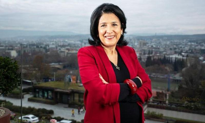 سالومے جارجیا کی پہلی خاتون صدر ہیں—فوٹو: دی ٹائم
