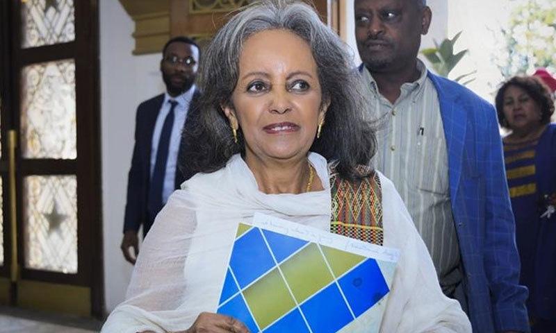 سہالے ورک کو بھی ایتھوپیا کی پہلی خاتون صدر ہونے کا اعزاز حاصل ہے—فوٹو: الجزیرہ