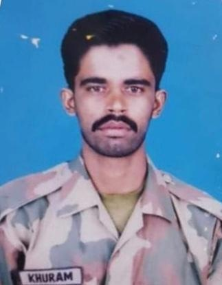 Martyred soldier Naik Khurram. — Photo courtesy ISPR