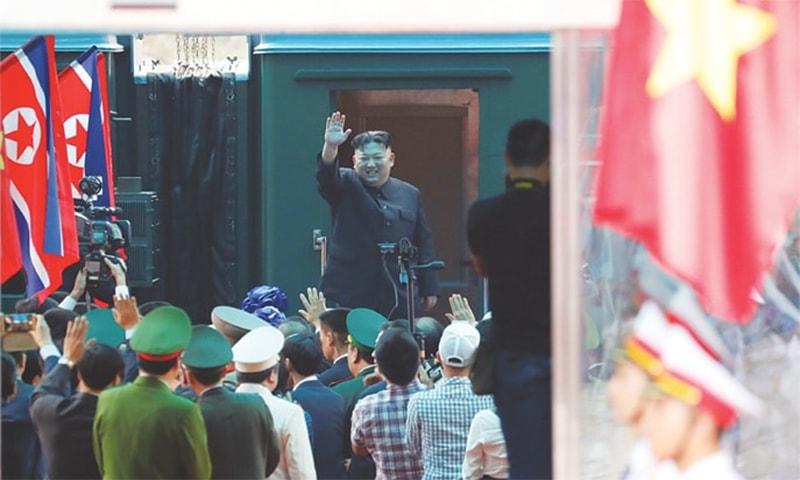 North Korea's Kim leaves Vietnam after summit breakdown