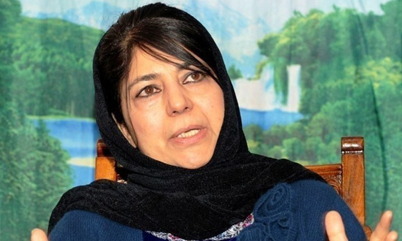 """Mehbooba Mufti asserted that as citizens everyone is accorded """"every right to question the credibility of the Balakot operation"""". — AFP/File"""
