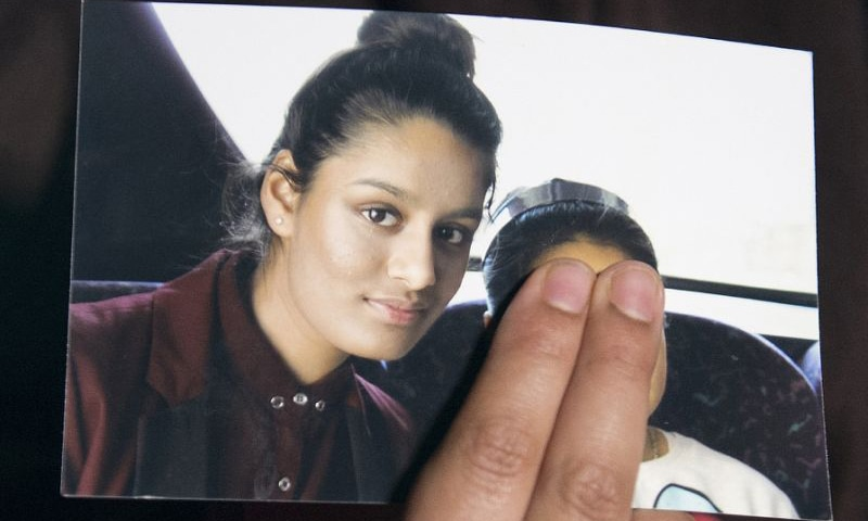 Begum, 19, from east London, has said she would like to return to Britain but has been stripped of her British citizenship by the government.—AFP