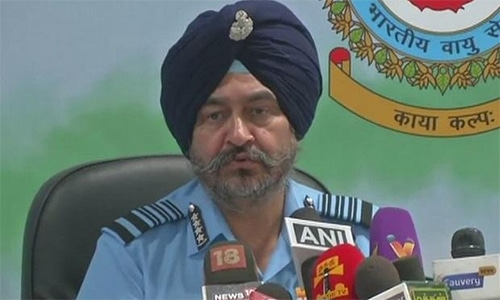 "Air Chief Marshal Birender Singh Dhanoa says the operation is ""ongoing"". — Photo courtesy: Business Standard"