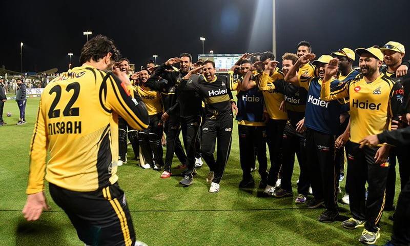 Misbah who led Zalmi in the run chase with a 59-run knock was awarded the Player of the Match. — PSL Twitter