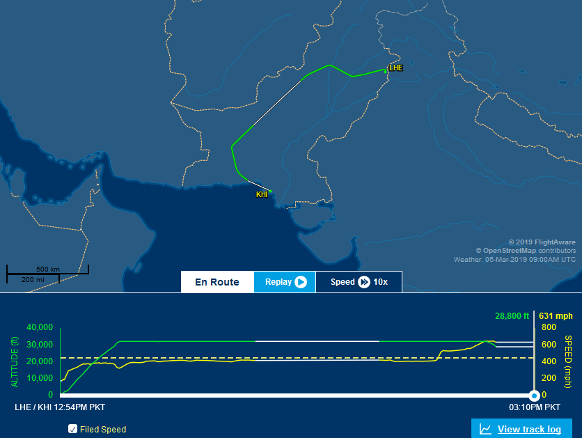 Airlines avoiding Pakistan's eastern airspace, making
