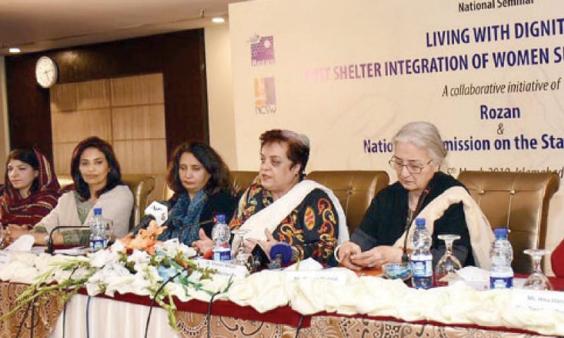 Human Rights Minister Dr Shireen Mazari speaks at the seminar on Tuesday. — INP