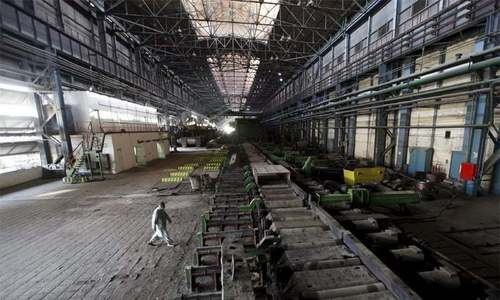 An inside view of the Pakistan Steel Mills. — Dawn Newspaper/File