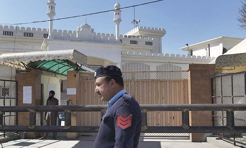 اسلام آباد میں اوقاف نے جماعت الدعوہ کے مدارس و مساجد کو اپنے کنٹرول میں لیا—فوٹو:اے پی