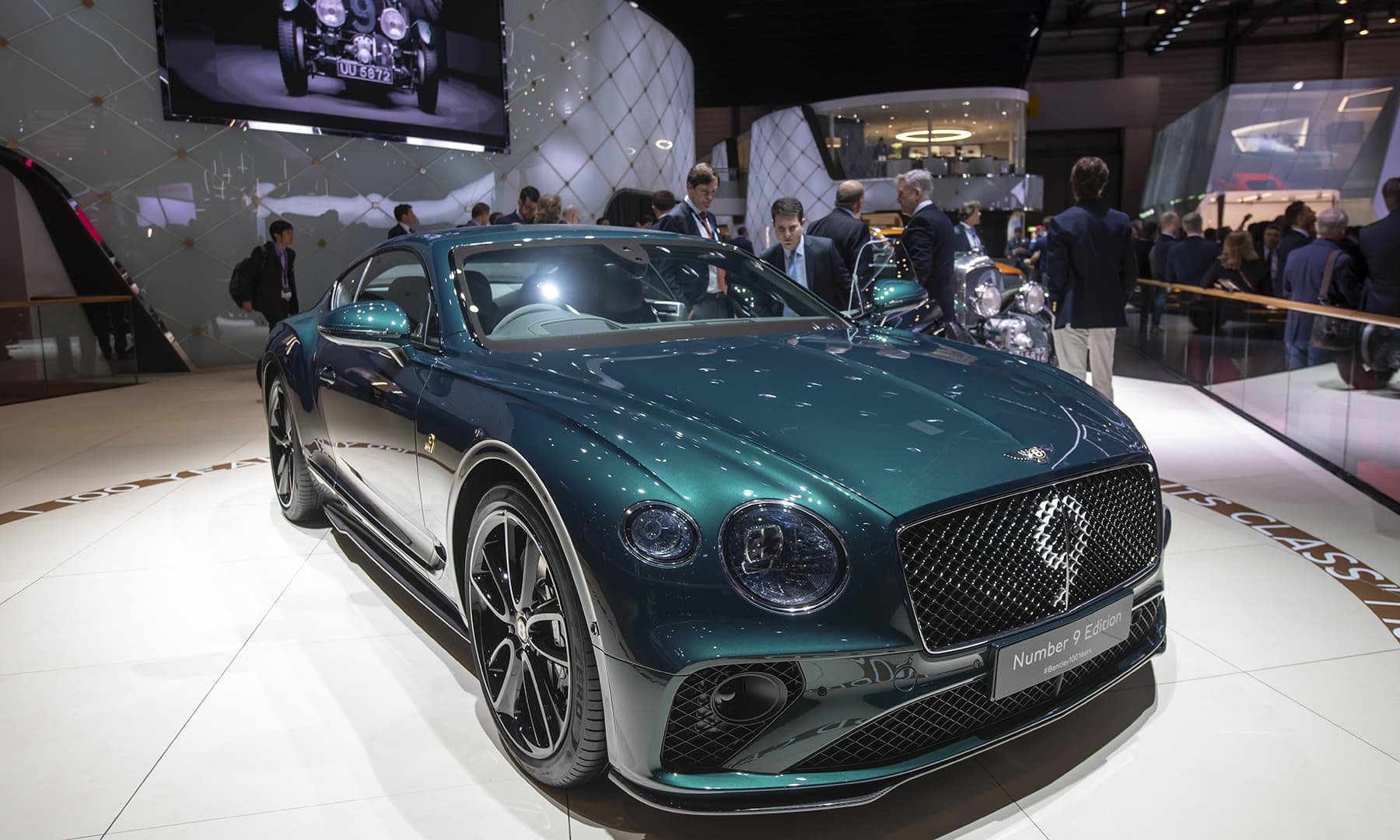 The new Bentley Motors 'Continental GT Number 9 Edition by Mulliner' car is presented during the press day at the Geneva International Motor Show. — AP