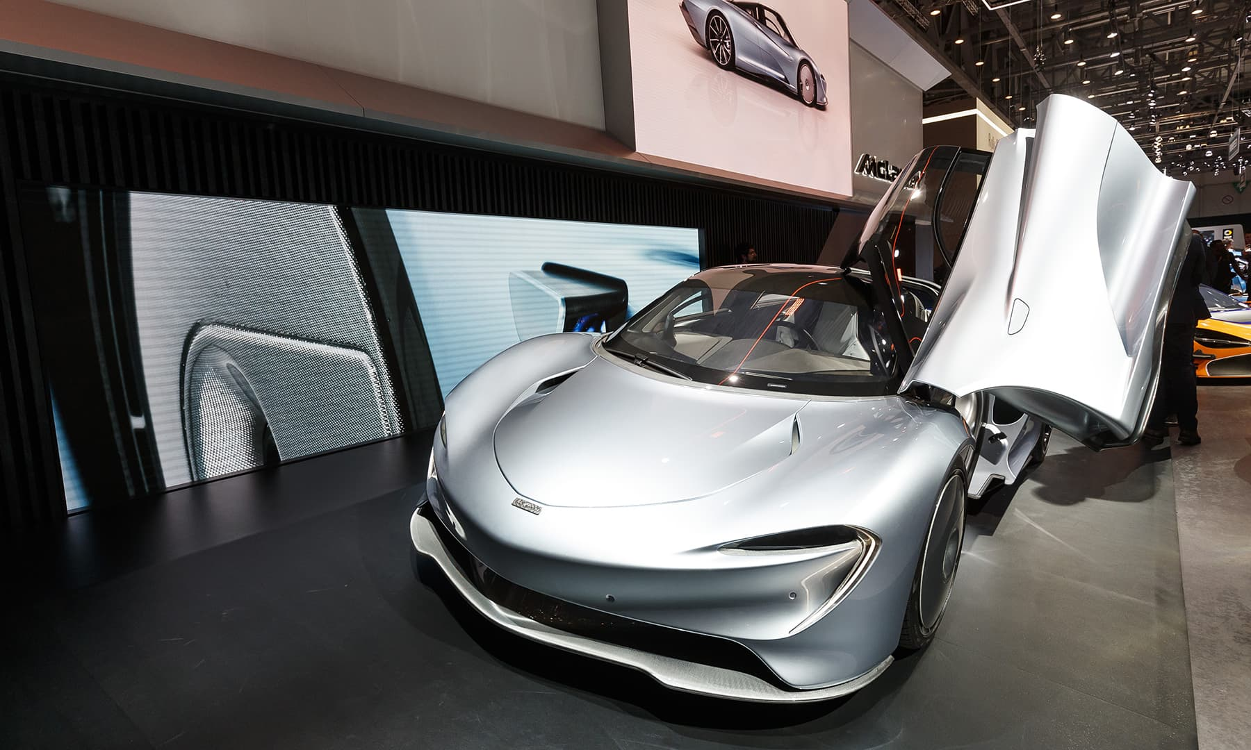 The new McLaren 'Speedtail' concept car is presented during the press day at the 89th Geneva International Motor Show. — AP
