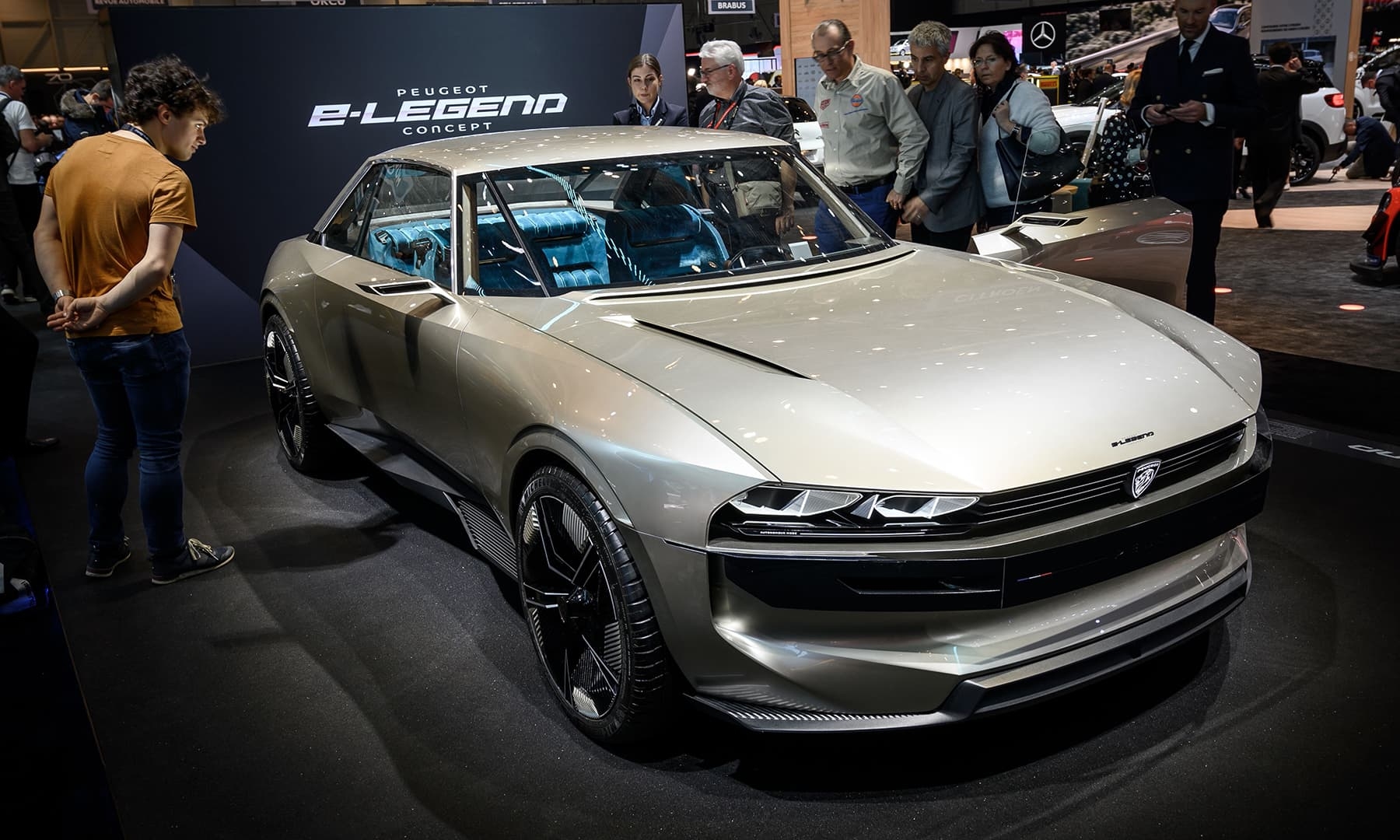 A Peugeot E-legend concept car is displayed at the booth of the French carmaker on March 5 ahead of the Geneva International Motor Show. — AFP