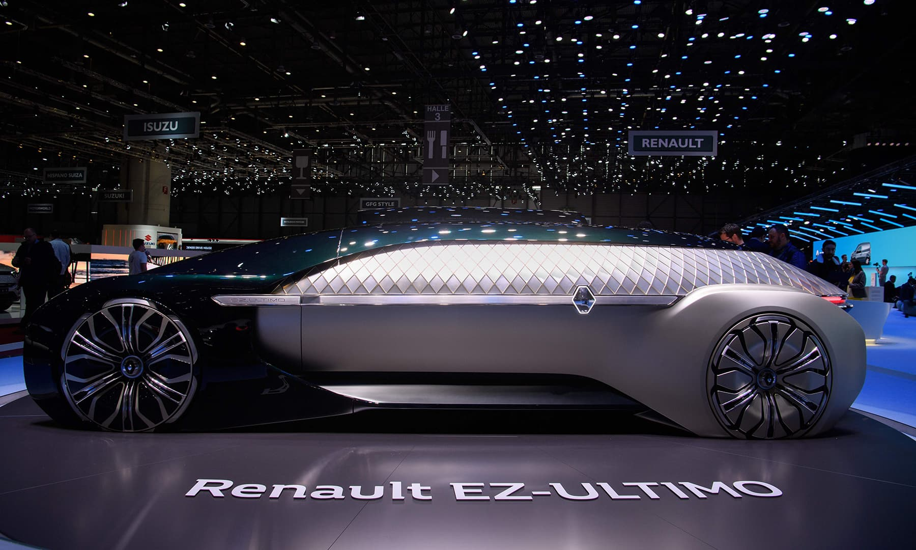 The Renault EZ-ULTIMO concept car is displayed on March 6 during a press day ahead of the Geneva International Motor Show in Geneva. — AFP