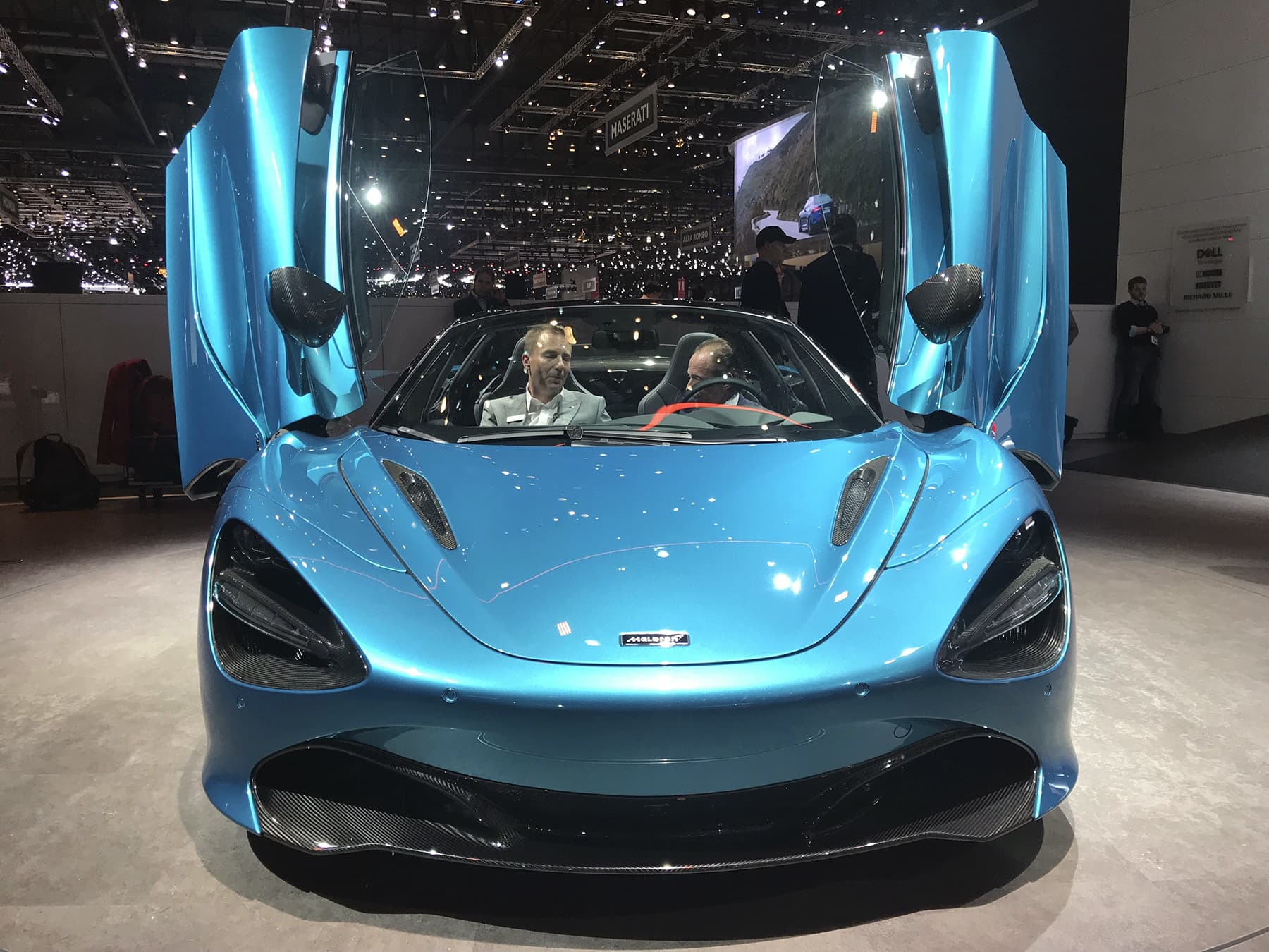 The new Mclaren 720S Spider is presented during the press day at the 89th Geneva International Motor Show in Geneva, Switzerland on Wednesday. — AP