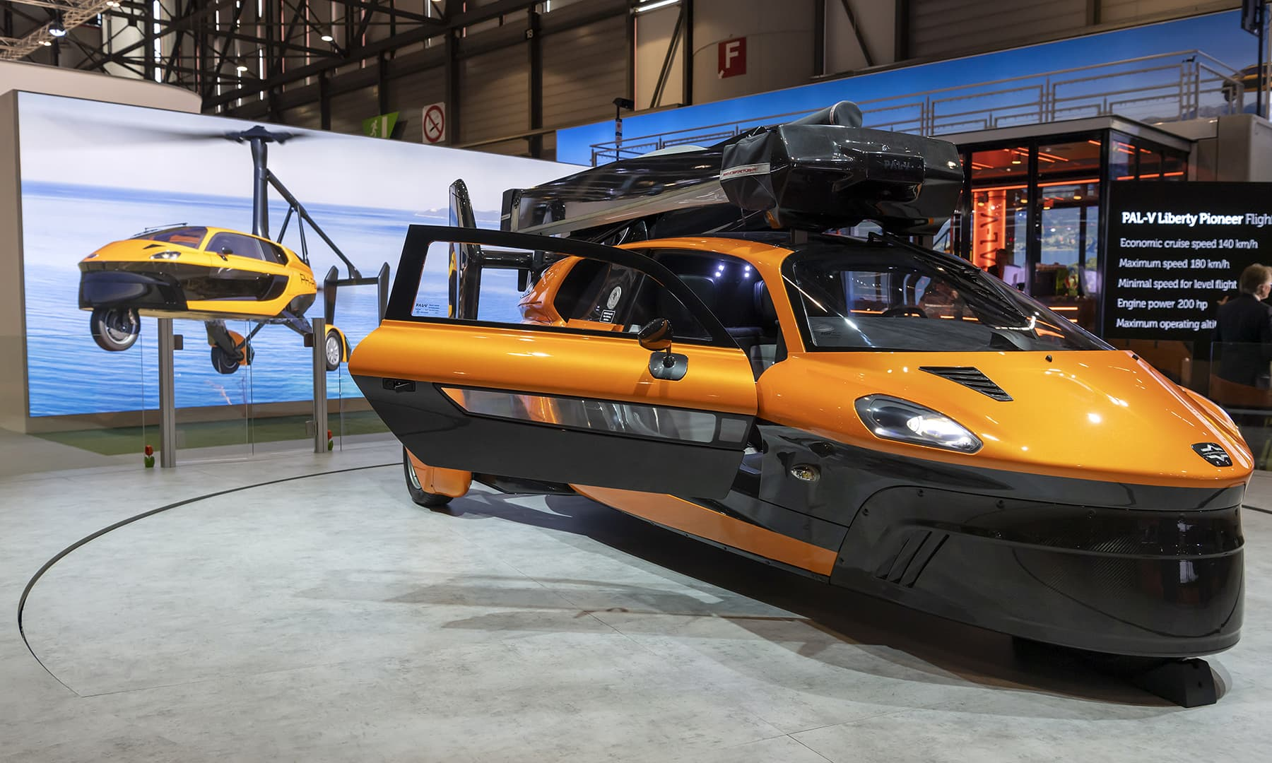 The new flying car 'PAL-V Liberty Pioneer Edition' is presented during the press day at the 89th Geneva International Motor Show. — AP