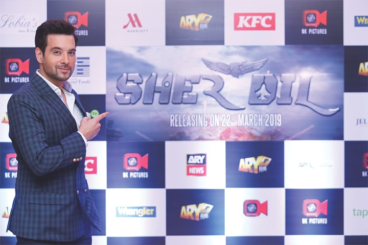 THE film's star Mikaal Zulfiqar at the launch.