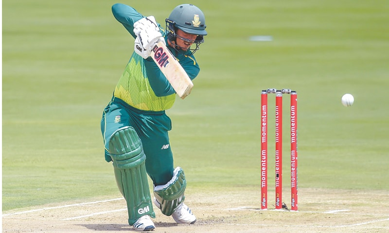 CENTURION: South African opener Quinton de Kock bats during the second One-day International against Sri Lanka at the SuperSport Park on Wednesday.—AFP