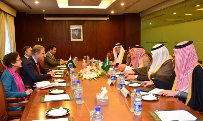 دونوں ممالک کے وزرائے خارجہ کے درمیان وزارت خارجہ میں ملاقات ہوئی — فوٹو بشکریہ دفتر خارجہ