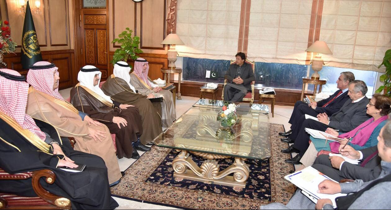 Saudi and Pakistani delegations holding talks at the Prime Minister Office on March 7, 2019. — PM Office