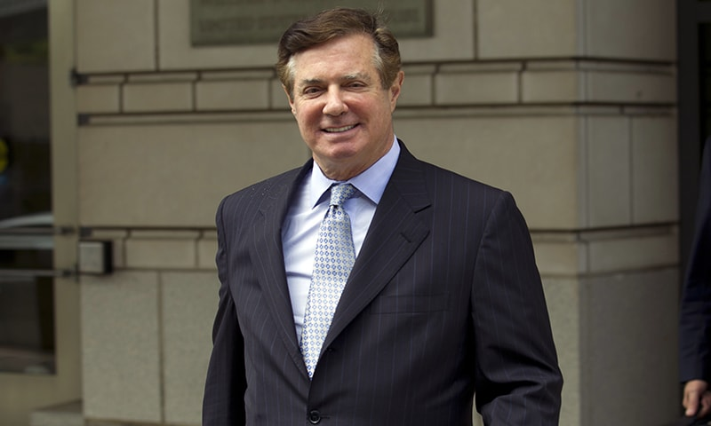 In this May 23, 2018, file photo, Paul Manafort, President Donald Trump's former campaign chairman, leaves the Federal District Court after a hearing in Washington. — AP
