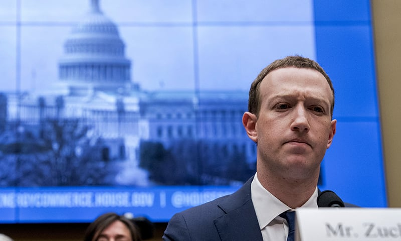 In this April 11, 2018, file photo, Facebook CEO Mark Zuckerberg pauses while testifying before a House Energy and Commerce hearing on Capitol Hill in Washington about the use of Facebook data to target American voters in the 2016 election and data privacy. — AP