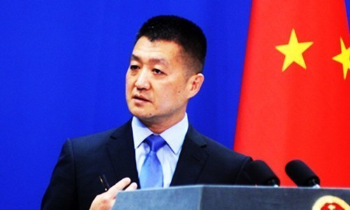 "Chinese foreign ministry spokesperson Lu Kang says Beijing has ""paid close attention to present situation"" in briefing to media. — Chinese foreign ministry website/File"