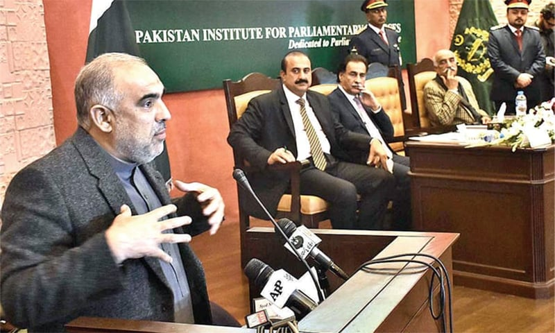 NA Speaker Asad Qaiser says he has constituted 93 parliamentary friendship groups to make parliamentary diplomacy proactive. — APP/File
