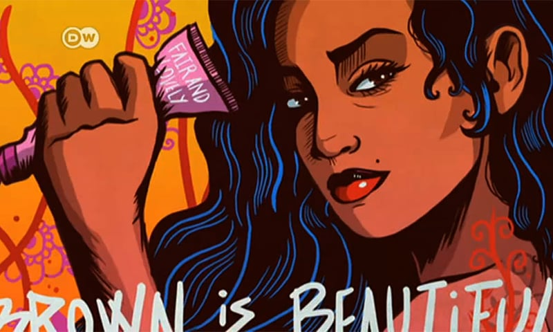 Shehzil Malik made a brown Wonder Woman to challenge colonial notions of beauty. — Dawn.com/File