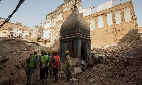 A land dispute between Muslims and Hindus is ongoing over plans to build a Hindu temple on a site where hard-liners demolished a 16th century mosque. — AFP/File