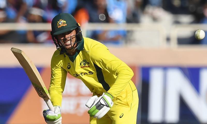 Australia's Usman Khawaja plays a shot during the third ODI. — AFP