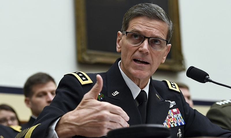 Peace in South Asia is the most important mutual priority for US and Pakistan, says Gen Joseph Votel. — AP/File