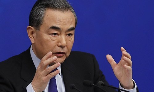 """China has stressed from the beginning the need to exercise calm and restraint,"" says Chinese Foreign Minister Wang Yi. — AP/File"