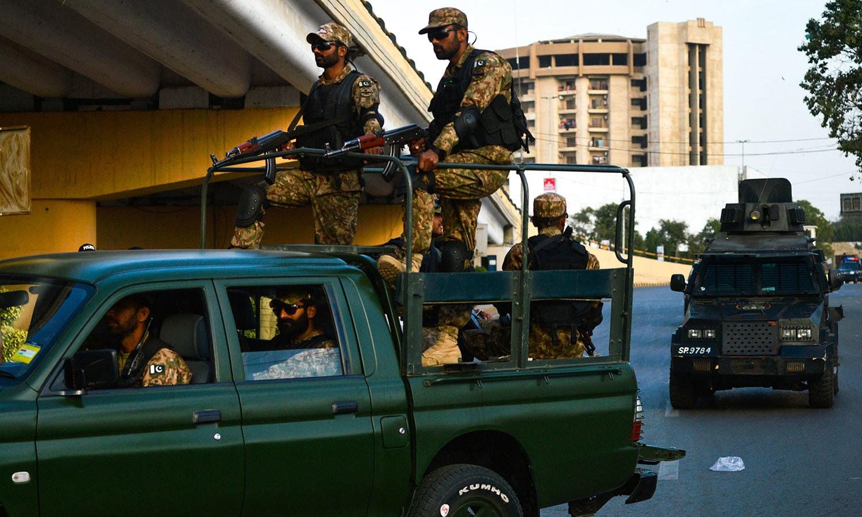 سیکیورٹی کے غیرمعمولی اقدامات کیے گئے تھے — فوٹو: اے ایف پی