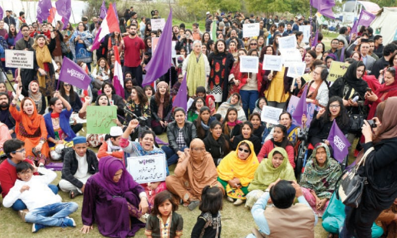 The march brought together women of all ages, from various walks of life, and representing a variety of different political and social organisations.