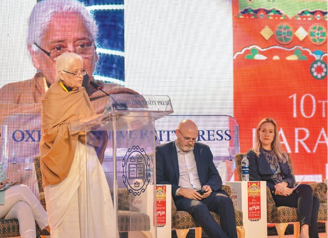 Poet Zehra Nigah was one of the keynote speakers at the KLF; however, another session with her had to be cancelled | White Star/Fahim Siddiqui