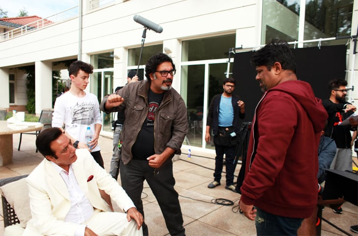 Jawed Sheikh and Ahsan Rahim on the set of Teefa in Trouble