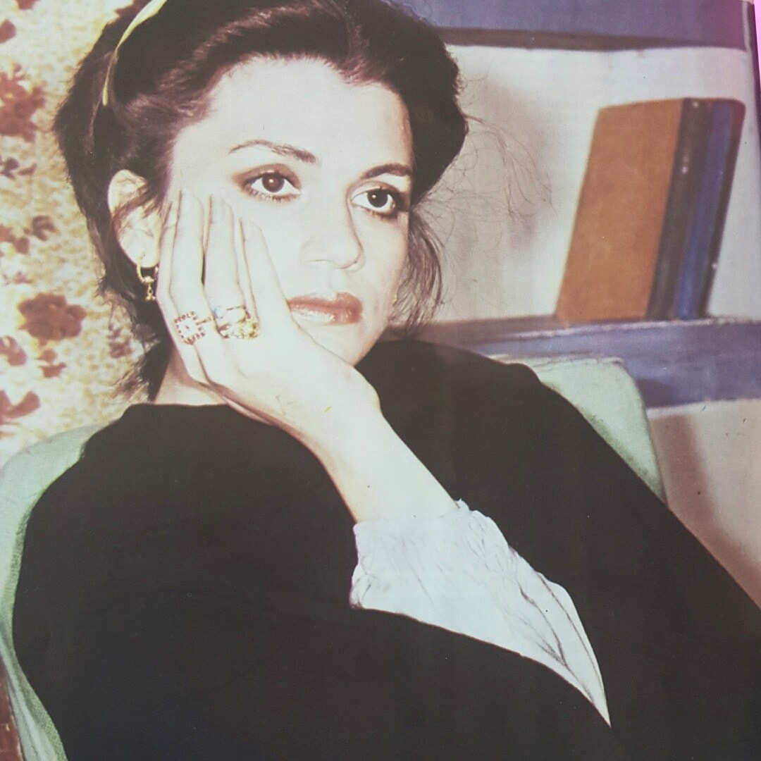 A photo of the famous actress, Khalida Riyasat | Photo from Herald's January 1987 issue