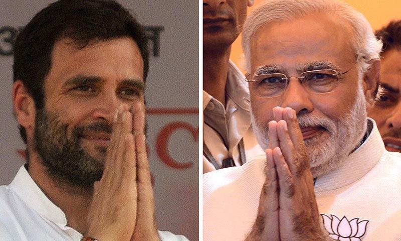مودی کا مقابلہ راہول گاندھی سے ہے—فائل/فوٹو: اے ایف پی