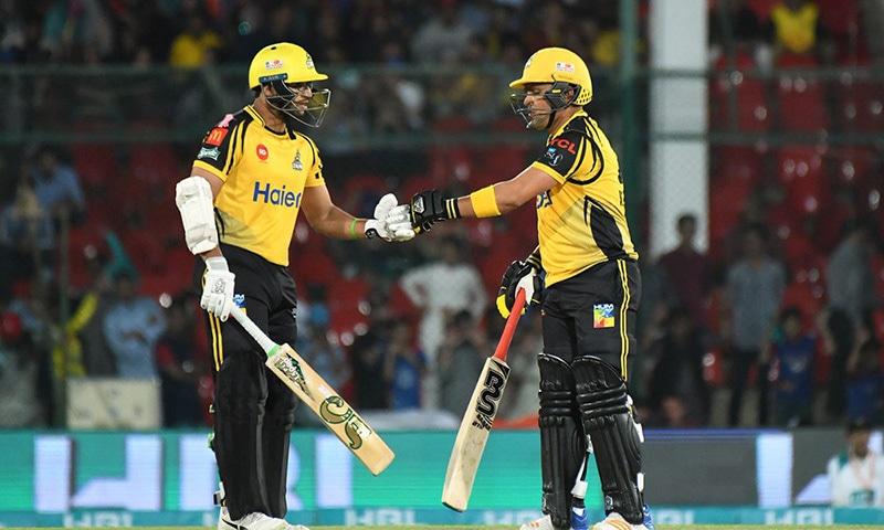 Zalmi openers Imamul Haq and Kamran Akmal at the crease. — PSL