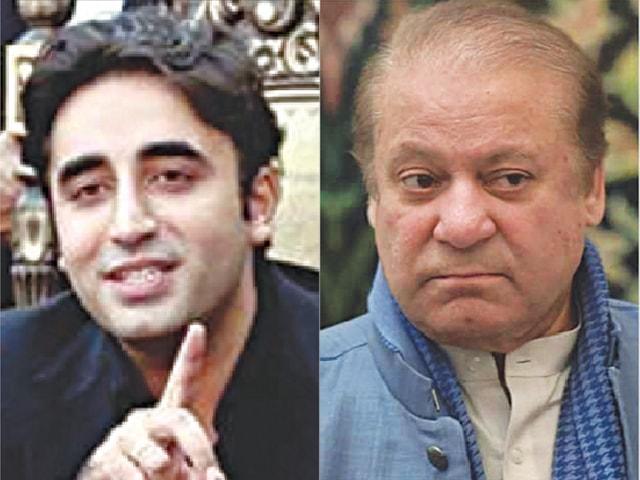 BILAWAL Bhutto-Zardari and Nawaz Sharif