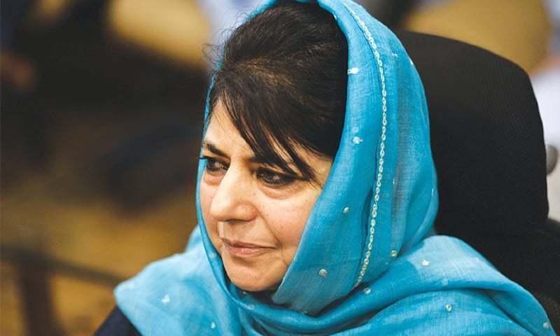محبوبہ مفتی مقبوضہ کشمیر کی وزیر اعلیٰ رہ چکی ہیں — فائل فوٹو: اے ایف پی