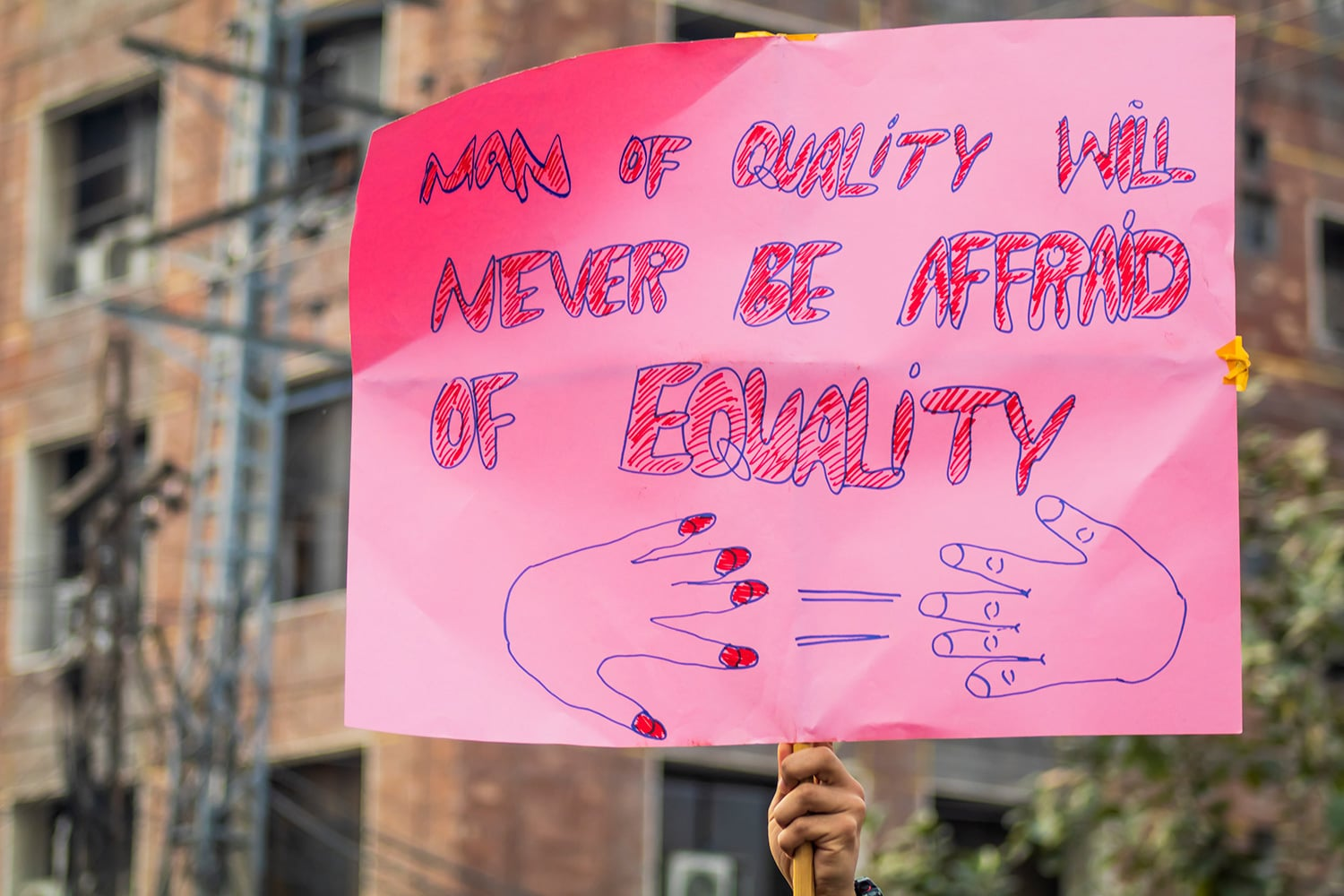 Aurat March Lahore. Photo Credit: Ema Anis/Amnesty International.