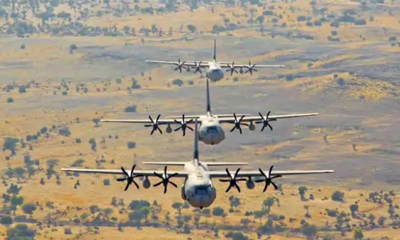 2014ء میں بھارتی فضائیہ کا سی-130 ہرکولس طیارہ مدھیہ پردیش میں گر کر تباہ ہوا جس میں 5 فوجی مارے گئے—اے ایف پی